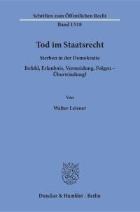 Cover Tod im Staatsrecht