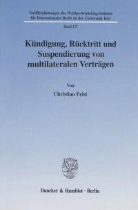 Cover Kündigung, Rücktritt und Suspendierung von multilateralen Verträgen