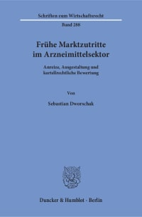 Cover Frühe Marktzutritte im Arzneimittelsektor