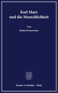 Cover Karl Marx und die Menschlichkeit