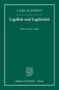Cover Legalität und Legitimität