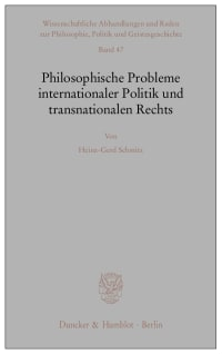 Cover Philosophische Probleme internationaler Politik und transnationalen Rechts