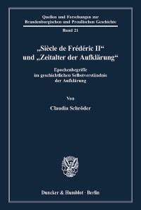 """Cover """"Siècle de Frédéric II"""" und """"Zeitalter der Aufklärung"""""""
