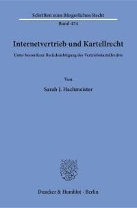 Cover Internetvertrieb und Kartellrecht