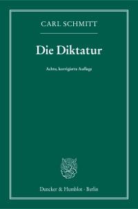Cover Die Diktatur