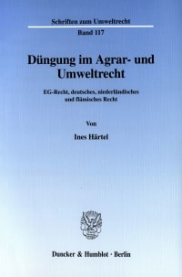 Cover Düngung im Agrar- und Umweltrecht