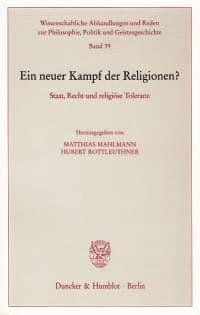 Cover Ein neuer Kampf der Religionen?