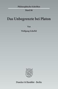 Cover Das Unbegrenzte bei Platon