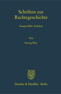 Cover Schriften zur Rechtsgeschichte