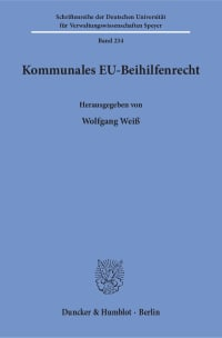 Cover Kommunales EU-Beihilfenrecht