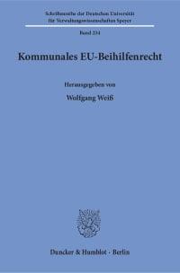 Cover Kommunales EU-Beihilfenrecht