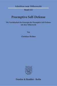 Cover Preemptive Self-Defense
