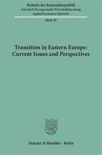 Cover Transition in Eastern Europe: Current Issues and Perspectives