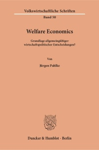 Cover Welfare Economics