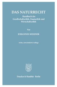 Cover Das Naturrecht