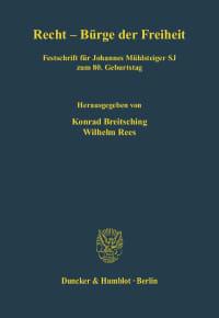 Cover Recht - Bürge der Freiheit