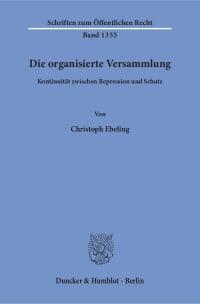 Cover Die organisierte Versammlung