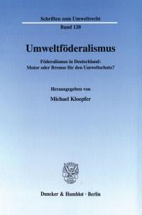 Cover Umweltföderalismus