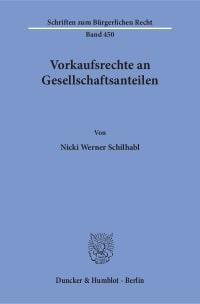 Cover Vorkaufsrechte an Gesellschaftsanteilen
