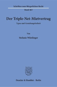 Cover Der Triple-Net-Mietvertrag