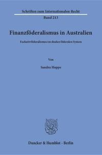 Cover Finanzföderalismus in Australien