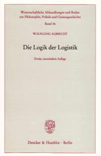 Cover Die Logik der Logistik