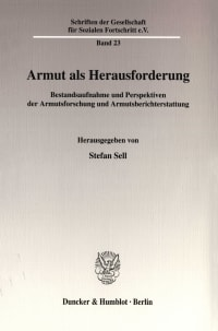 Cover Armut als Herausforderung