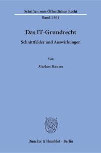 Cover Das IT-Grundrecht