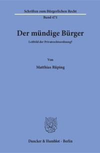 Cover Der mündige Bürger