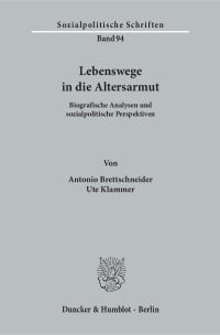 Cover Lebenswege in die Altersarmut