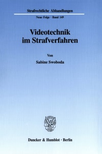 Cover Videotechnik im Strafverfahren