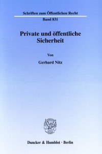 Cover Private und öffentliche Sicherheit