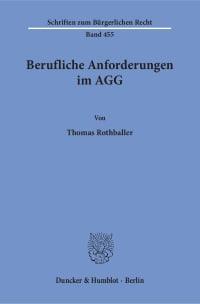 Cover Berufliche Anforderungen im AGG