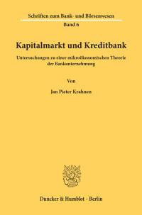 Cover Kapitalmarkt und Kreditbank