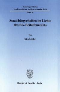 Cover Staatsbürgschaften im Lichte des EG-Beihilfenrechts