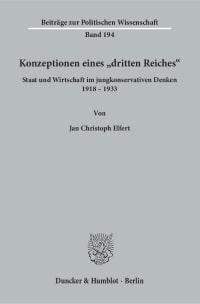 Cover Konzeptionen eines »dritten Reiches«