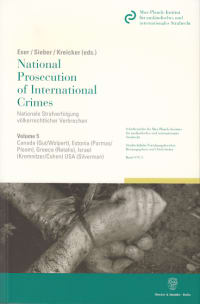 Cover National Prosecution of International Crimes / Nationale Strafverfolgung völkerrechtlicher Verbrechen