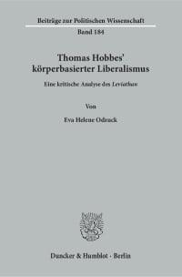Cover Thomas Hobbes' körperbasierter Liberalismus