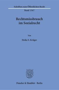 Cover Rechtsmissbrauch im Sozialrecht