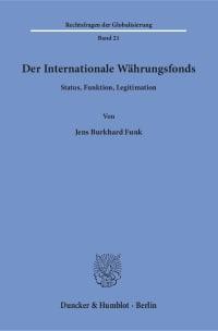 Cover Der Internationale Währungsfonds