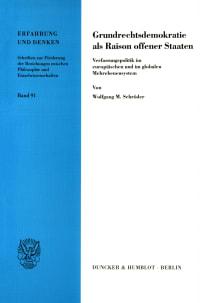 Cover Grundrechtsdemokratie als Raison offener Staaten