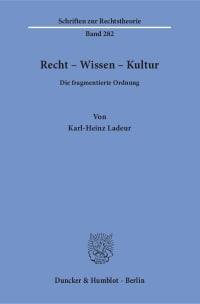 Cover Recht – Wissen – Kultur