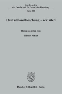 Cover Deutschlandforschung – revisited