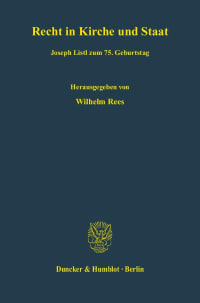 Cover Recht in Kirche und Staat