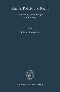 Cover Kirche, Politik und Recht