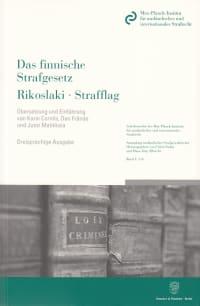 Cover Das finnische Strafgesetz / Rikoslaki / Strafflag