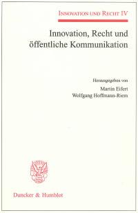 Cover Innovation, Recht und öffentliche Kommunikation