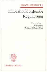 Cover Innovationsfördernde Regulierung