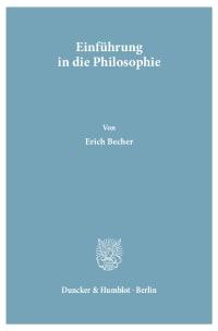 Cover Einführung in die Philosophie