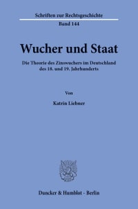 Cover Wucher und Staat